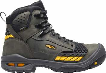 KEEN Utility KN1025697 Troy, Men's, Magnet/Black, Comp Toe, EH, WP, 6 Inch Boot