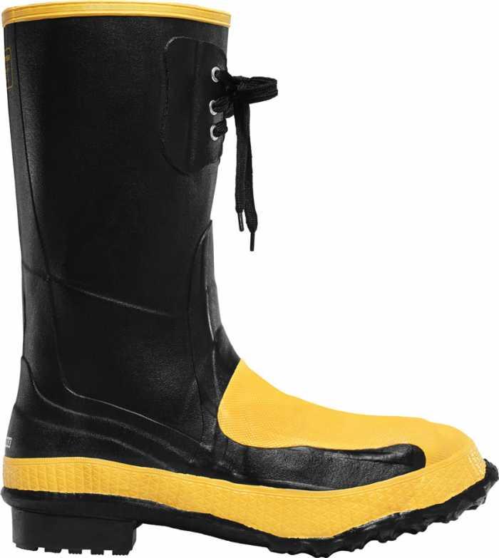 LaCrosse 228040 Men's 12 Inch Steel Toe, Internal Met Guard, Puncture Resistant Rubber Boot