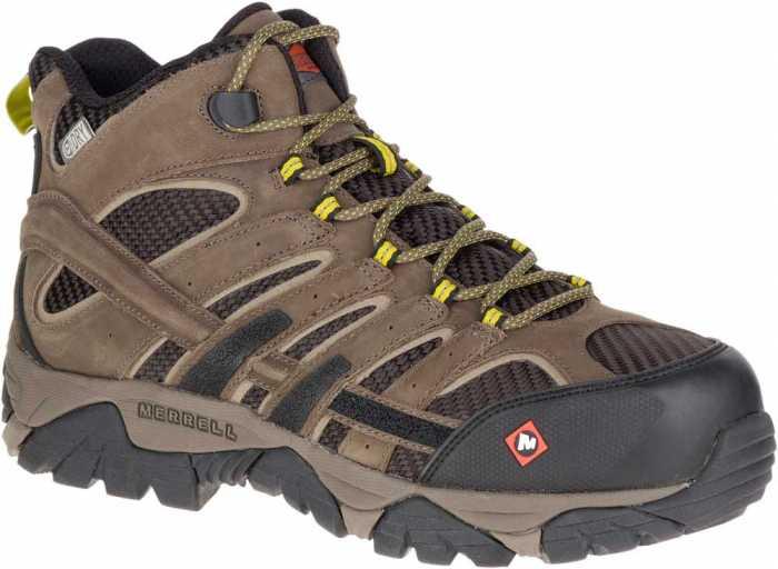 Merrell MLJ15753 Moab 2 Vent Mid Men's, Boulder, Comp Toe, EH, Waterproof Hiker