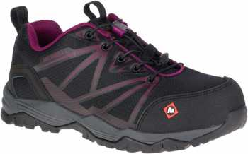 Merrell MLJ15822 Fullbench Women's, Black/Purple, Comp Toe, EH, Low