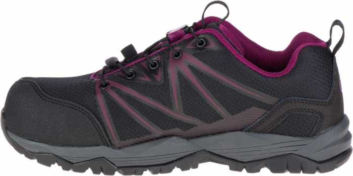 Merrell MLJ15822 Fullbench Women's, Black/Purple, Comp Toe, EH, Low