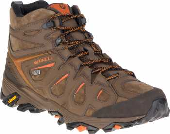 Merrell MLJ37481 Moab FST, Men's, Dark Earth, Soft Toe, WP, Slip Resistant Hiker