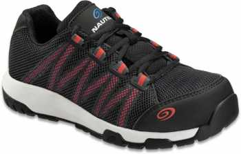 Nautilus N1347 Accelerator, Women's, Black/Pink, Carbon Fiber Toe, SD, Low Athletic