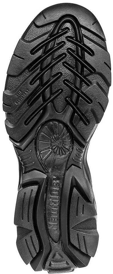Nautilus N1631 Women's, Black, Steel Toe, SD, Twin Gore Slip On