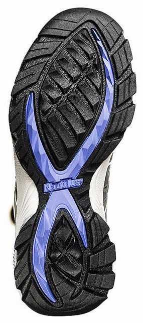 Nautilus 4391 Women's Grey/Blue Nonmetallic, Soft Toe, Static Dissipative, Low Athletic