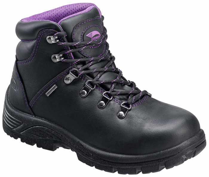 Avenger N7124 Women's, Black, Steel Toe, EH, Waterproof Hiker
