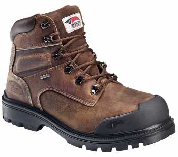 Avenger N7258 Men's, Brown, Steel Toe, EH, PR, WP 6 Inch Boot