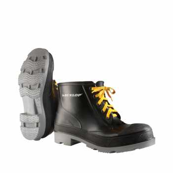 Dunlop 86104 Men's Black 6 Inch Polyblend Lace Up Boot