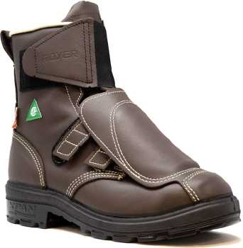 Royer RO12161XP XPAN Men's, Brown, Aluminum Toe, Met Guard, EH, PR, 8 Inch Boot
