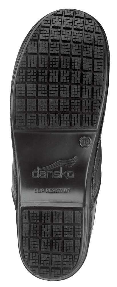 Dansko SDK910202 Silver/Black Crisscross Patent, SR Max MaxTrax, Soft Toe, Slip Resistant Clog