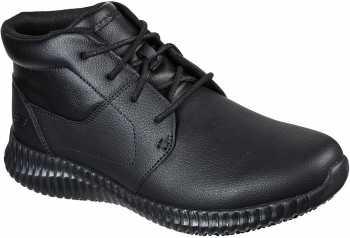 SKECHERS Work SK200028BLK Cessnock Alesser, Men's, Black, Soft Toe, Slip Resistant Chukka