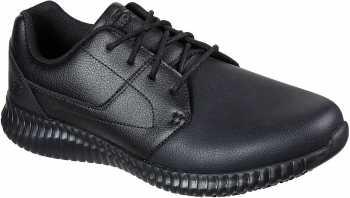 SKECHERS Work SK200063BLK Cessnock Lival, Men's, Black, Soft Toe, Slip Resistant Oxford
