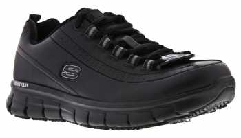 SKECHERS Work SK76550BLK Women'sRelaxed Fit:Sure Track-Trickel Black, Slip Resistant Athletic
