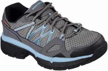SKECHERS Work SK76587GYBL Conroe Abbenes, Women's, Grey/Blue, Soft Toe, SD Athletic
