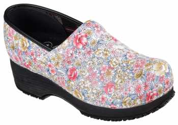 SKECHERS Work SK77227MULT Work Clog, Women's, Multi Color, Soft Toe Clog