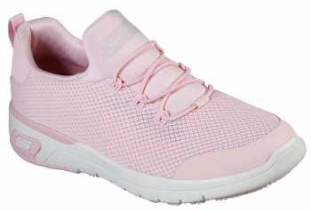 SKECHERS Work SK77281LTPK Marsing-Waiola, Women's, Light Pink/White, Soft Toe, Slip Resistant Athletic