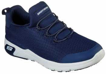 SKECHERS Work SK77281NVY Marsing-Waiola, Women's, Navy/White, Soft Toe, Slip Resistant Athletic
