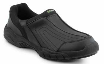 SR Max SRM140 Charlotte, Women's, Black, Athletic Slip On Style Slip Resistant Soft Toe Work Shoe