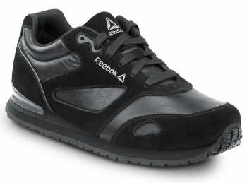Reebok Work SRB1977 Prelaris, Black, Men's Jogger Style Slip Resistant Soft Toe Work Shoe