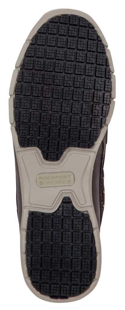 Rockport Works SRK2221 Men's Hampton Brown, Boat Shoe Style Slip Resistant Soft Toe Work Shoe