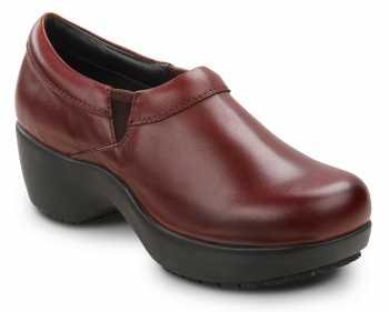 SR Max SRM131 Geneva Burgundy, Women's, Clog Style Slip Resistant Soft Toe Work Shoe