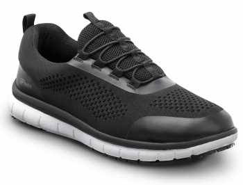 SR Max SRM1570 Anniston, Men's, Black/White, Slip On Athletic Style Slip Resistant, EH, Soft Toe Work Shoe