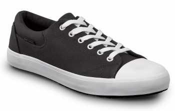 SR Max SRM1990 Berlin, Men's, Black/White, Skate Style Slip Resistant Soft Toe Work Shoe