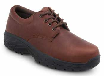 SR Max SRM2060 Burke, Men's, Brown Oxford Style, Comp Toe, EH, Security Friendly Slip Resistant Work Shoe
