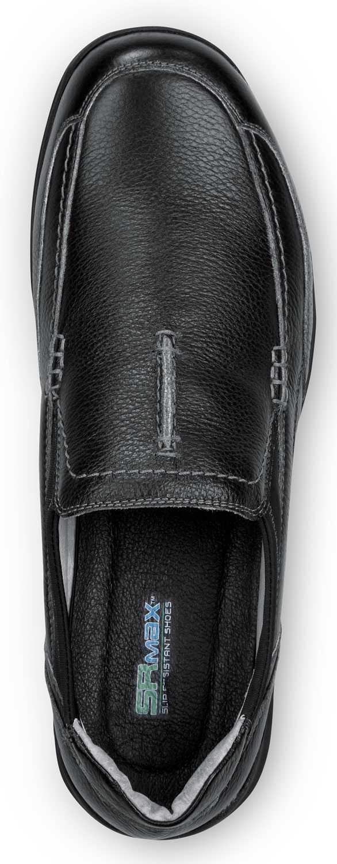 SR Max SRM3650 Charleston, Men's, Black Slip On Dress Style Soft Toe Slip Resistant Work Shoe