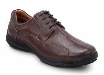 SR Max SRM3750 Atlanta Men's Brown, Soft Toe, Slip Resistant Oxford