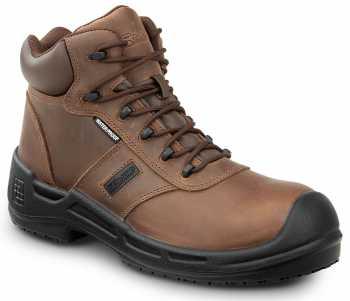 SR Max SRM9110 Cascade, Men's, Brown, Soft Toe, Waterproof, Slip Resistant 6 Inch Work Boot