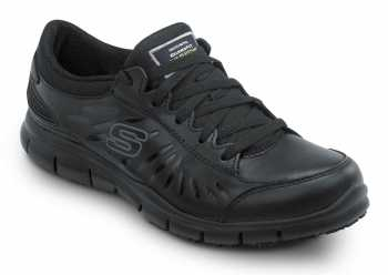 SKECHERS Work SSK405BLK Stacey Black Soft Toe, Slip Resistant, Low Athletic