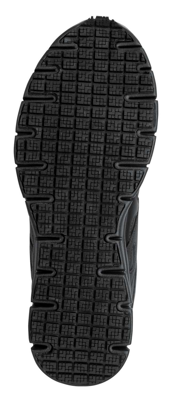 SKECHERS Work SSK605BLK David Black Soft Toe, Slip Resistant, Low Athletic