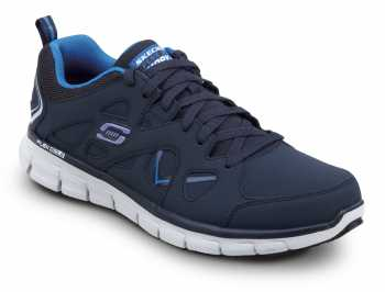SKECHERS Work SSK605NVBL David Navy/Columbia Soft Toe, Slip Resistant, Low Athletic