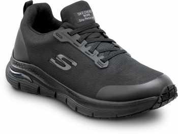 Skechers Arch Fit SSK8038BLK Jake, Men's, Black, Soft Toe, Slip Resistant, Slip On Athletic