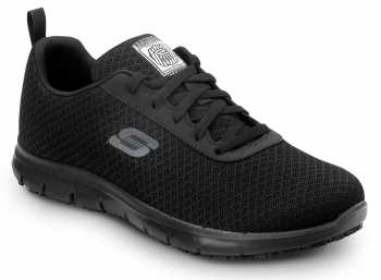 SKECHERS Work SSK8174BLK Ava Women's Black Soft Toe, MaxTrax Slip Resistant, Low Athletic