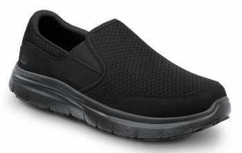 SKECHERS Work SSK8175BLK Ella Women's Black, Soft Toe, MaxTrax Slip Resistant, Slip-on Athletic