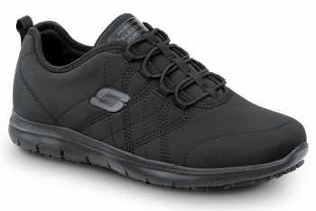 SKECHERS Work SSK8348BLK Alex, Women's, Black, Soft Toe, Slip Resistant Athletic