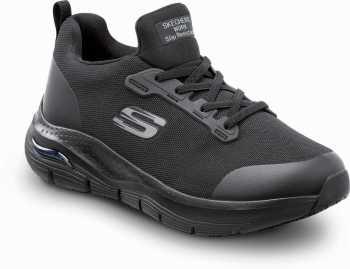 Skechers Arch Fit SSK8436BLK Leslie, Women's, Black, Alloy Toe, Slip Resistant Slip On Athletic
