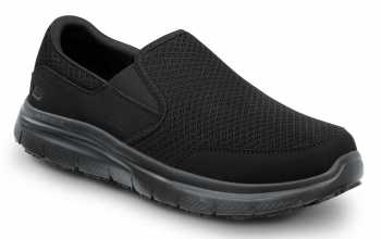 SKECHERS Work SSK9809BBK Jimmy Men's Black, Soft Toe, MaxTrax Slip Resistant, Slip-on Athletic