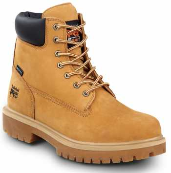 Timberland PRO STMA1V48 6IN Direct Attach Men's, Wheat, Soft Toe, MaxTRAX Slip Resistant, WP Boot