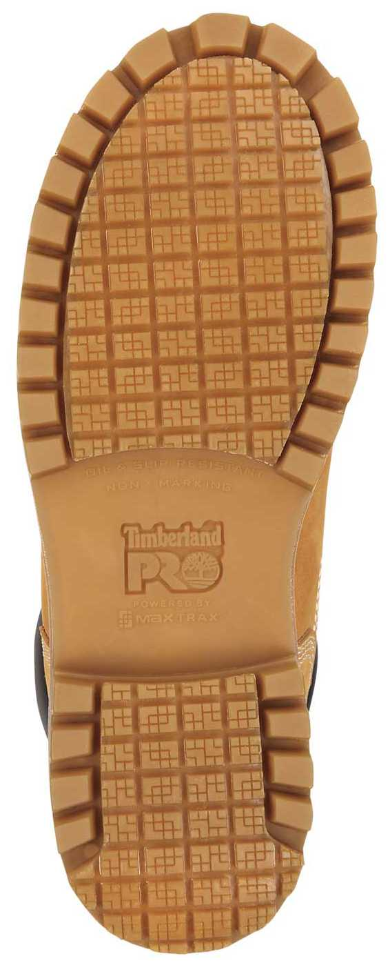 Timberland PRO STMA1X7R 6IN Direct Attach Women's, Wheat, Steel Toe, EH, MaxTRAX Slip Resistant, WP/Insulated Boot