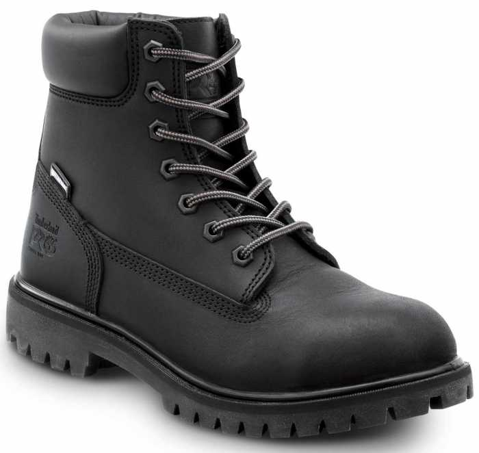 Timberland PRO STMA1X8E 6IN Direct Attach Women's, Black, Soft Toe, EH, MaxTRAX Slip Resistant, WP/Insulated Boot