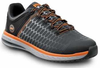 Timberland PRO STMA1XRK Powerdrive, Men's, Black/Orange, Soft Toe, EH, MaxTRAX Slip Resistant Low Athletic