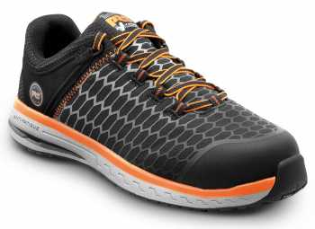 Timberland PRO STMA21AV Powerdrive, Men's, Black/Orange, Comp Toe, EH, Low Athletic