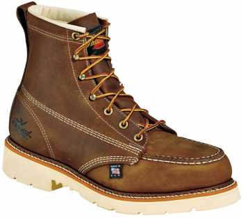 Thorogood TG804-4375 Men's, Brown, Safety Toe, EH, 6 Inch, Moc Toe Boot