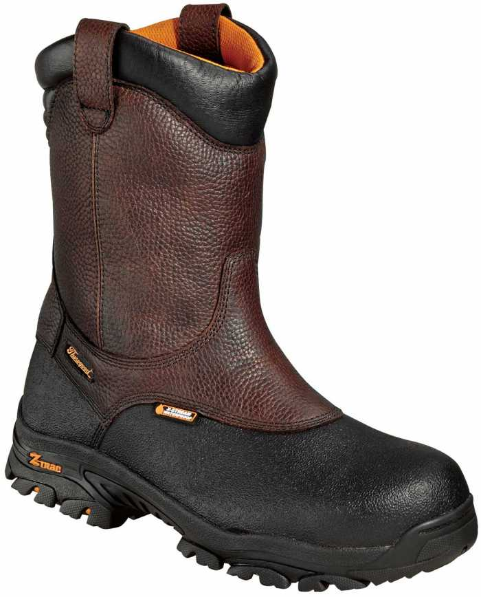 Thorogood TG804-4810 Men's, Brown/Black, Comp Toe, EH, WP Wellington