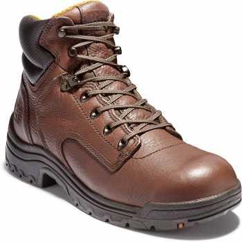 Timberland PRO TM24097 Coffee, Men's TiTAN 6 Inch, Soft Toe Work Boot
