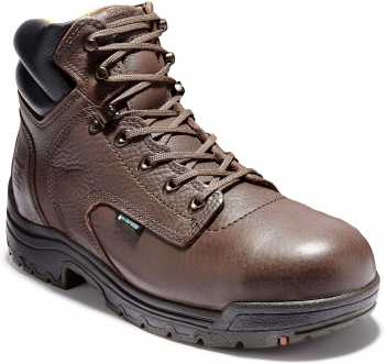 Timberland PRO TM26078 Dark Mocha, Men's, TiTAN Alloy Toe, EH, 6 Inch Work Boot