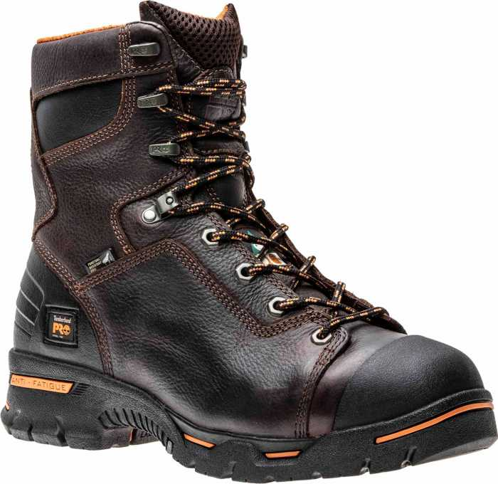 Timberland PRO TM52561 Briar Brown, Men's, Endurance Steel Toe, EH, Puncture Resistant, 8 Inch Work Boot
